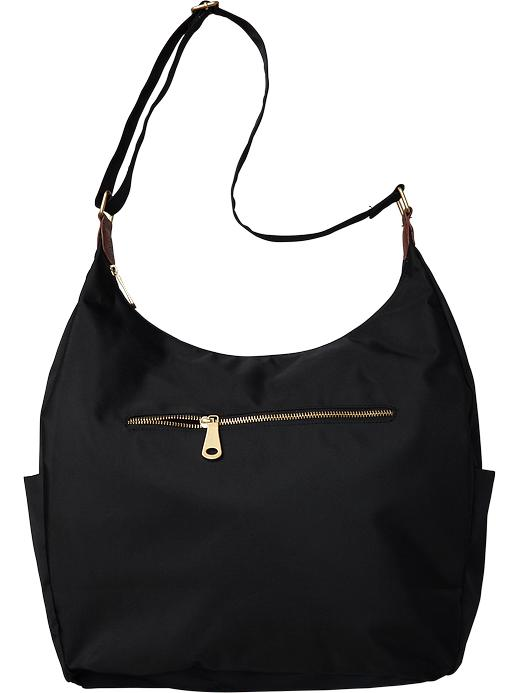 Old Navy Women's Zip Top Hobo Bags - Black - Old Navy Canada