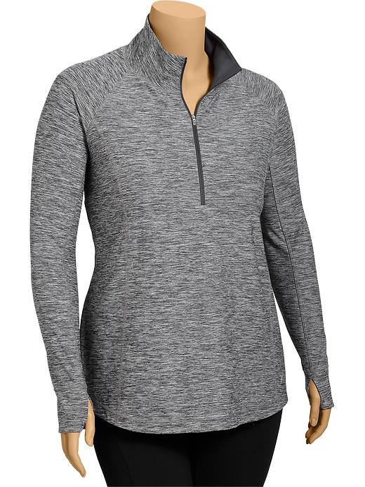 Women's Plus Active By Old Navy Mock Pullovers - Drkhthrg - Old Navy Canada