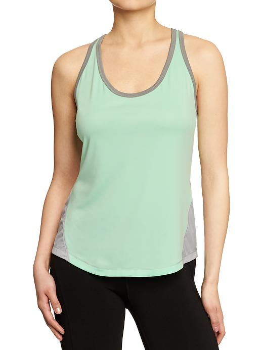 Women's Active By Old Navy Semi Fitted Tanks - Magic mint polyester - Old Navy Canada