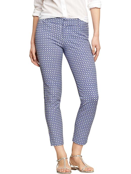 Old Navy Women's The Pixie Skinny Ankle Pants - Blue geometric - Old Navy Canada