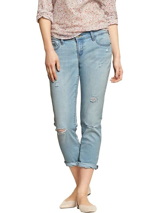 Old Navy Women's Cropped Skinny Boyfriend Jeans - Flower power - Old Navy Canada