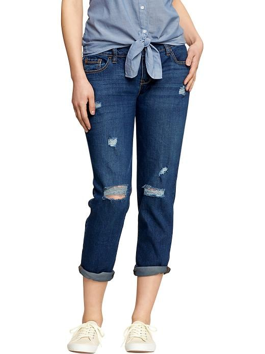 Old Navy Women's Cropped Skinny Boyfriend Jeans - Blue night - Old Navy Canada