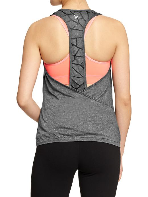 Women's Old Navy Active Cross Over Racerback Tanks - Carbon - Old Navy Canada