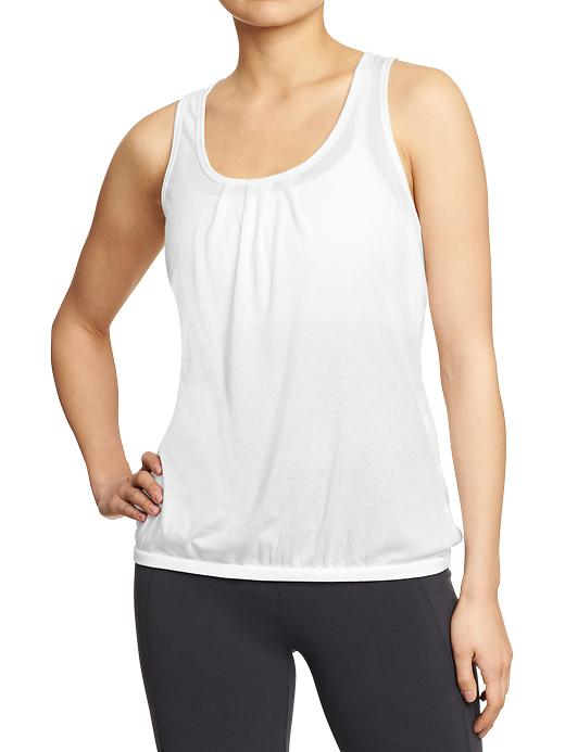 Women's Old Navy Active Cross Over Racerback Tanks - Bright white