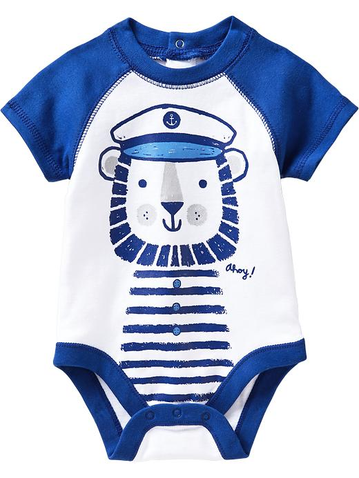 Old Navy Nautical Graphic Bodysuits For Baby - Absolute blue - Old Navy Canada