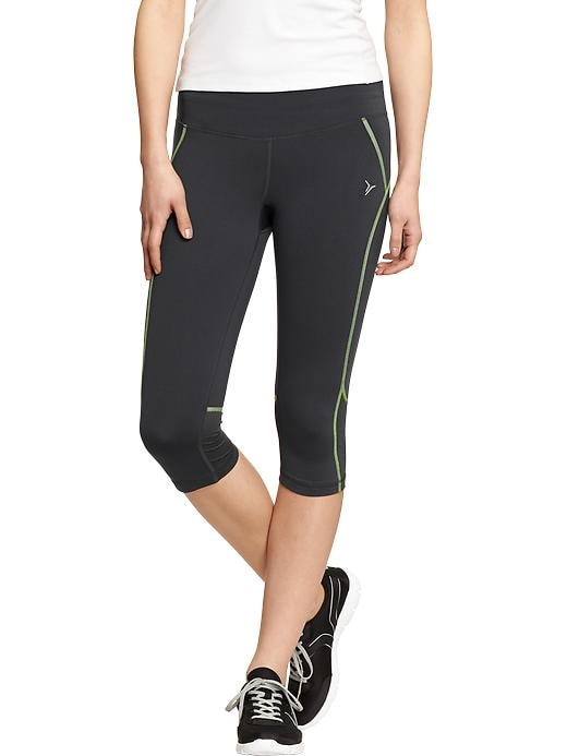 "Women's Active By Old Navy Cropped Compression Pants (16"") - Light bulb neon poly - Old Navy Canada"