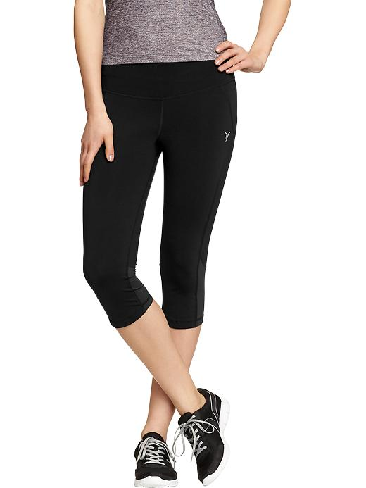 "Women's Active By Old Navy Cropped Compression Pants (16"") - Black jack - Old Navy Canada"