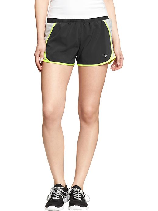 "Women's Active By Old Navy Side Mesh Running Shorts (3"") - On dark grey heather - Old Navy Canada"