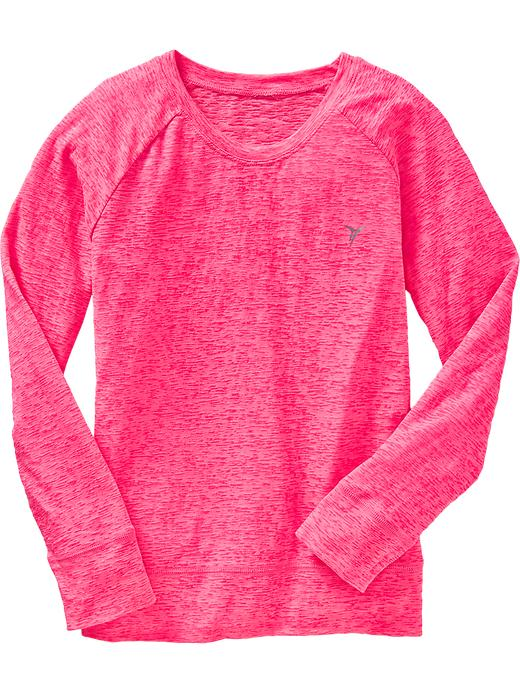 Girls Active By Old Navy Burnout Tees - Electric cantaloupe 2 - Old Navy Canada