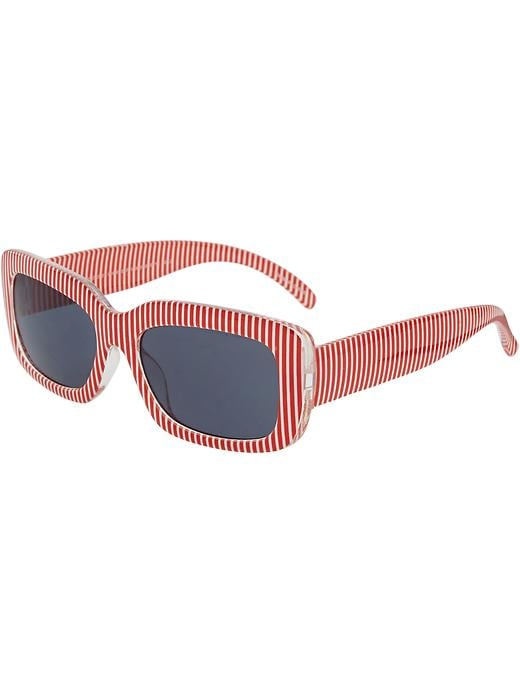 Old Navy Sunglasses For Baby - White & red stripe