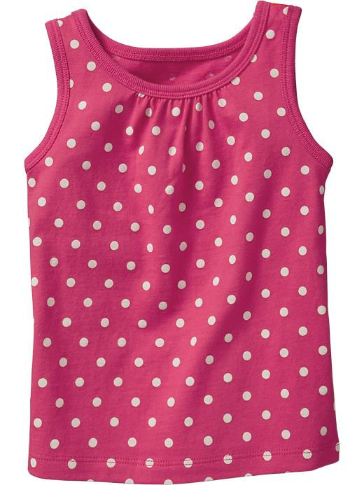 Old Navy Shirred Yoke Printed Tanks For Baby - Pink dots - Old Navy Canada