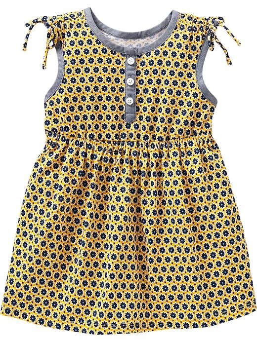 Old Navy Printed Jersey Tie Shoulder Dresses For Baby - For the gold - Old Navy Canada