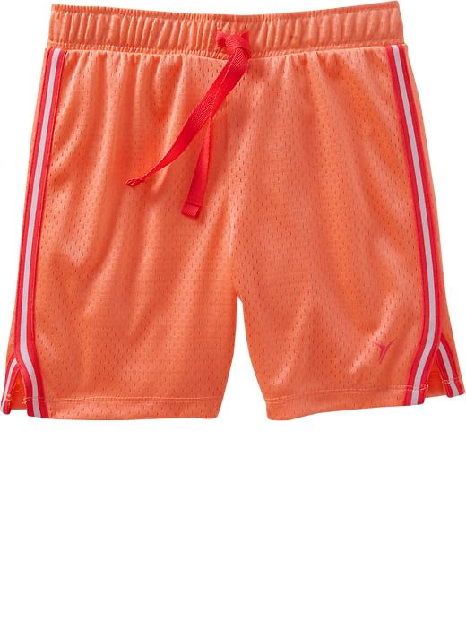 Girls Active By Old Navy Mesh Shorts - Electric cantaloupe 2 - Old Navy Canada