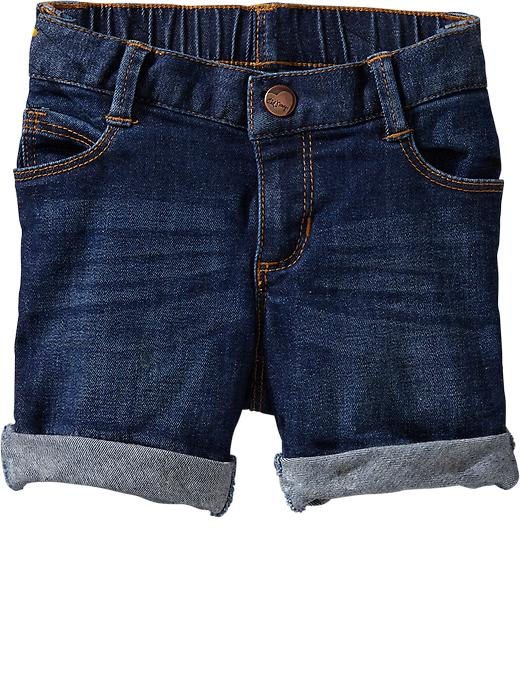 Old Navy Skinny Denim Bermudas For Baby - Dark wash