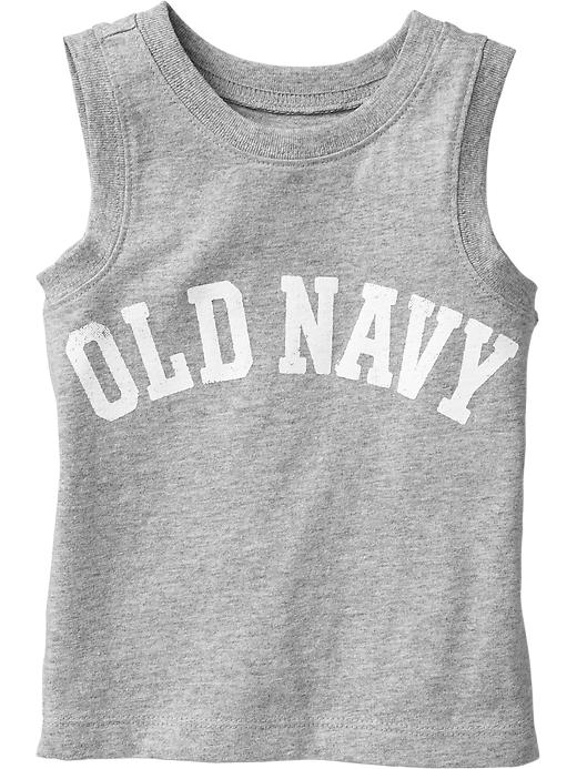 Old Navy Graphic Tanks For Baby - Heather gray - Old Navy Canada
