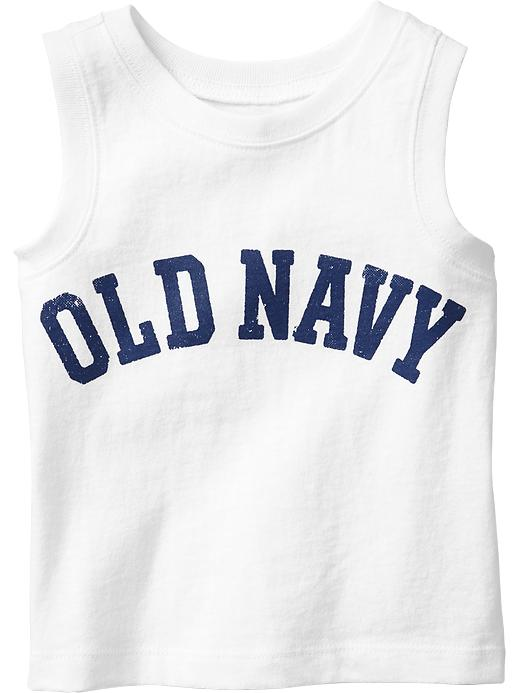 Old Navy Graphic Tanks For Baby - Bright white - Old Navy Canada