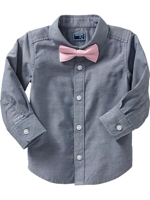 Old Navy Shirt & Bow Tie Sets For Baby - Light chambray - Old Navy Canada