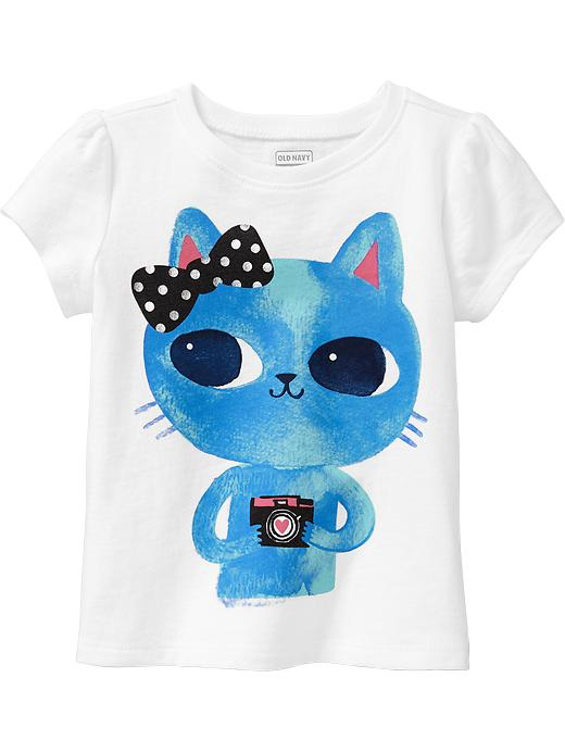 Old Navy Graphic Tees For Baby - Blue cat
