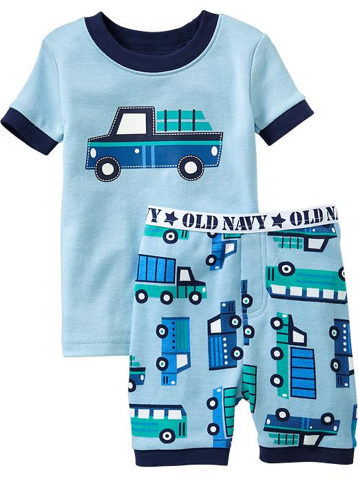 Old Navy Truck Print Pj Short Sets For Baby - Ice cap - Old Navy Canada