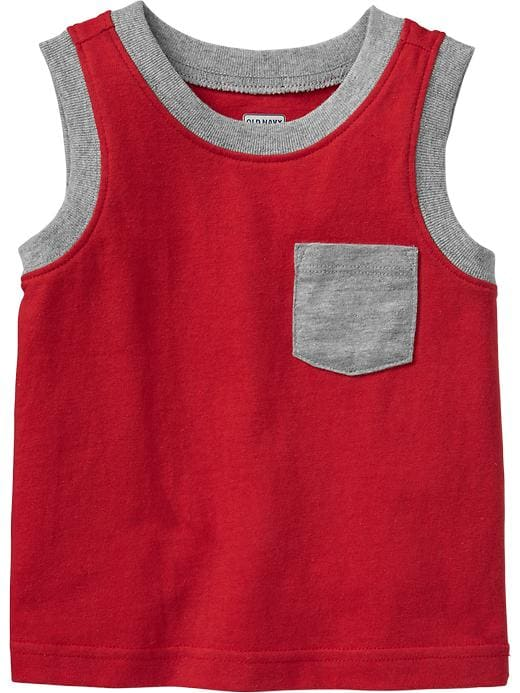 Old Navy Chest Pocket Muscle Tees For Baby - Robbie red - Old Navy Canada