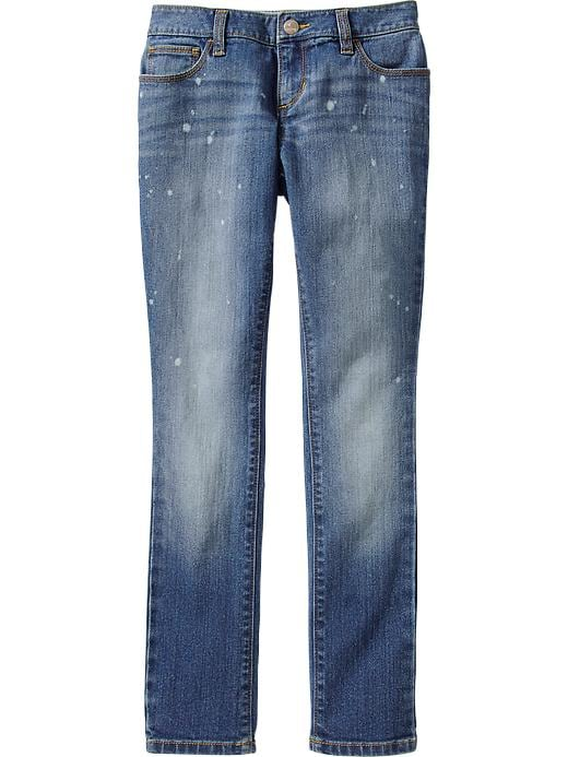 Old Navy Girls Paint Splatter Skinny Boyfriend Jeans - Medium wash - Old Navy Canada