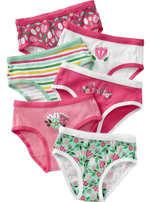 Old Navy Graphic Print Underwear 6 Packs For Baby - Pink multi floral - Old Navy Canada