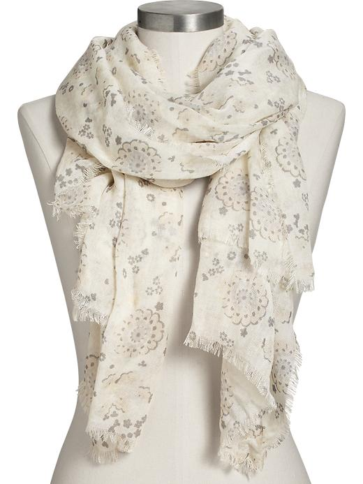 Old Navy Women's Printed Gauze Scarves - Neutral - Old Navy Canada
