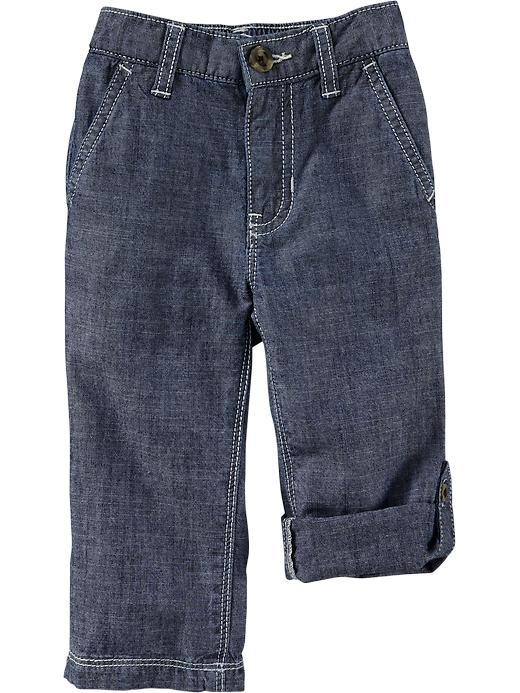 Old Navy Chambray Roll Up Pants For Baby - Light chambray - Old Navy Canada