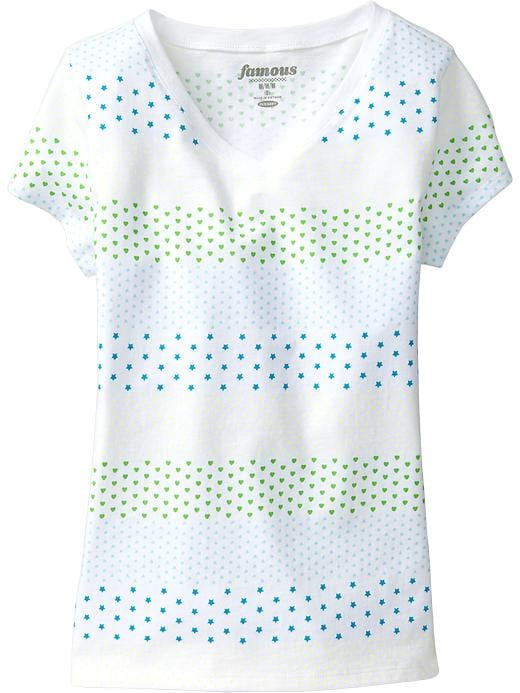 Old Navy Girls V Neck Tees - Knight time