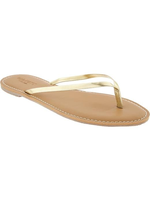 Old Navy Women's Faux Leather Capri Sandals - Gold - Old Navy Canada