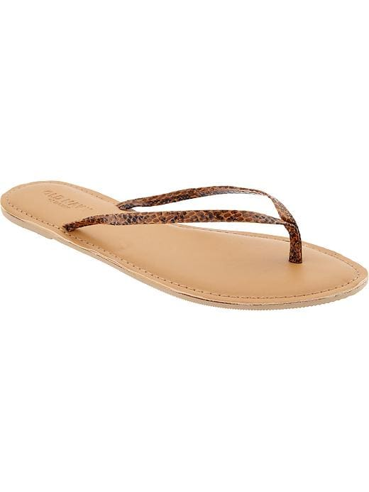 Old Navy Women's Faux Leather Capri Sandals - Brown snake - Old Navy Canada