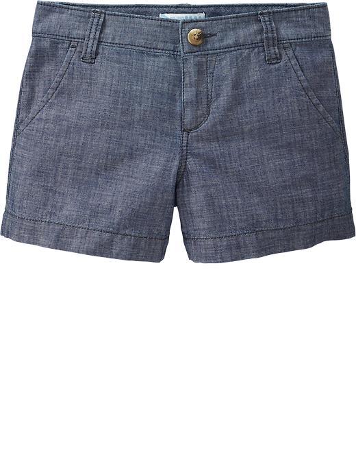 Old Navy Girls Chambray Shorts - Chambray blue