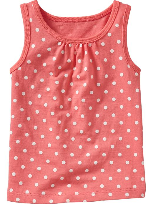 Old Navy Shirred Yoke Printed Tanks For Baby - Coral dots - Old Navy Canada