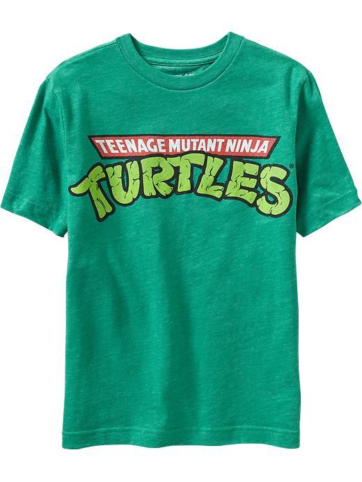 Old Navy Boys Teenage Mutant Ninja Turtles Tees - Kelly green