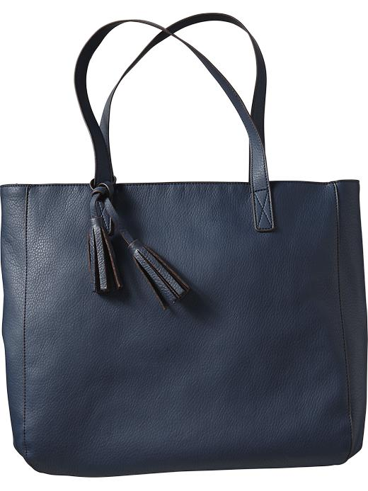 Old Navy Women's Tassel Zip Totes - Navy - Old Navy Canada