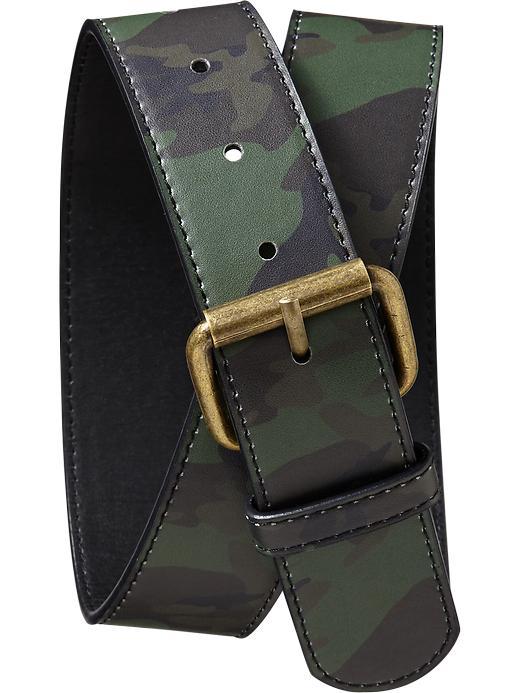 Old Navy Boys Camo Belts - Green camo - Old Navy Canada