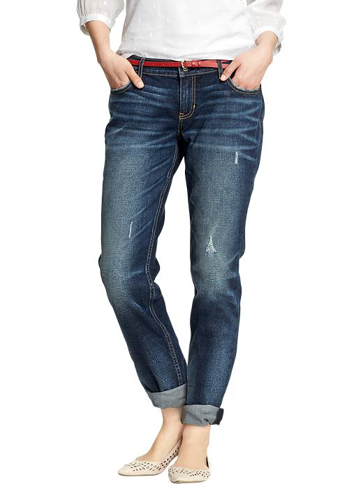 "Old Navy Women's Boyfriend Distressed Skinny Jeans (28"") - Deamland - Old Navy Canada"