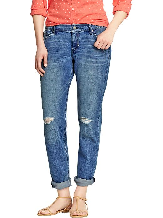"Old Navy Women's Boyfriend Distressed Skinny Jeans (28"") - Bluffs - Old Navy Canada"