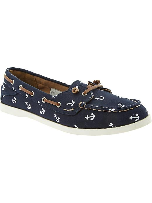 Old Navy Women's Printed Boat Shoes - Navy anchor - Old Navy Canada