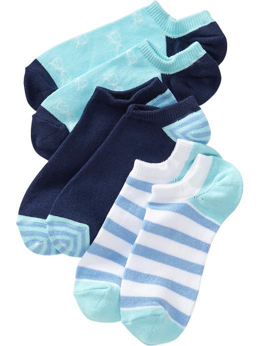 Old Navy Girls Ankle Sock 3 Packs - Peri big trouble