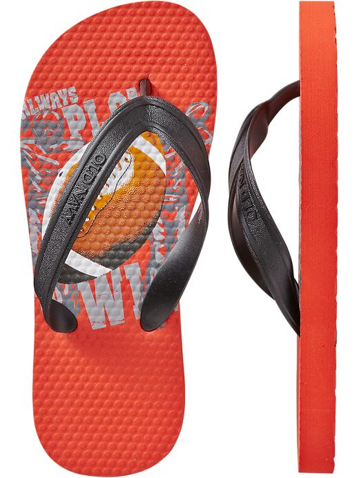 Old Navy Boys Printed Flip Flops - Football