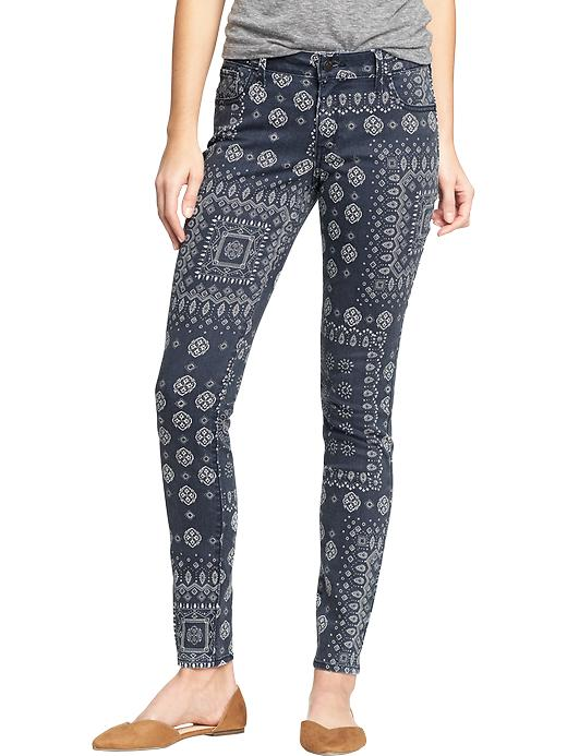 Women's The Rockstar Printed Skinny Jeans