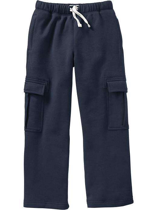 Old Navy Boys Fleece Cargos - Ink blue