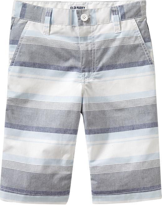 Old Navy Boys Striped Canvas Shorts - Multi blue stripe