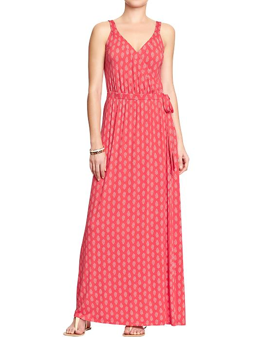 Women's Cross-front Maxi Dress