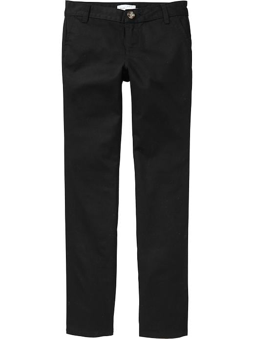 Available in Black, Khaki, and Navy Straight Leg Pant Mid Rise 5 Pocket Design Stretch Material 30