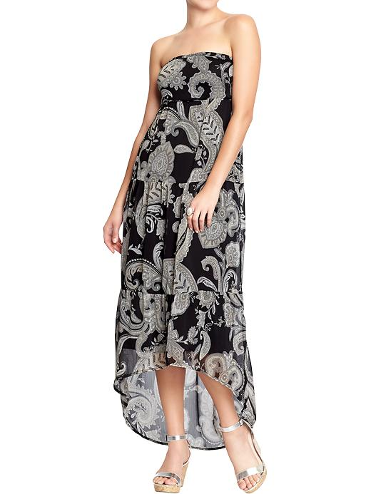 Women's Chiffon Tube Maxi Dress