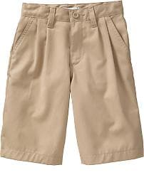 Pleated Uniform Shorts for Boys