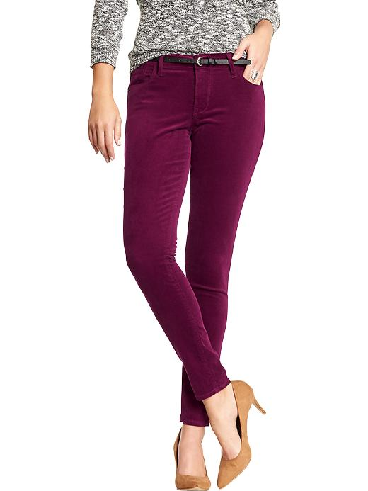 women's wine- colored jeans