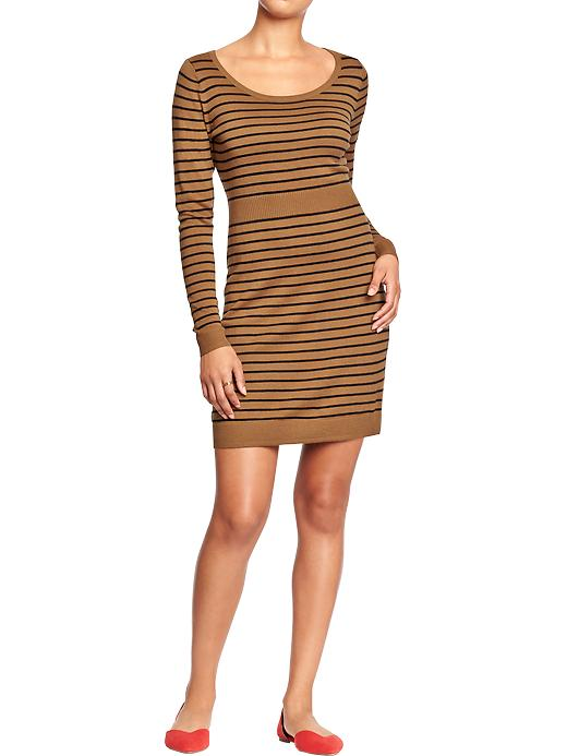 Women's Scoop-Neck Sweater Dresses